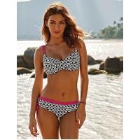 Anita (Rosa Faia)  Frederica bikini roze zwart wit  40G,