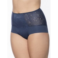 Ulla Dessous Alice fitting high brief  in blue sizes 38-56 (European sizes)
