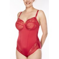 Ulla Dessous Carla body in red,  sizes B-G, 34-48