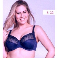 Ulla Dessous Carmen bra without wire in the  color safire (blue) , sizes B-G, 34-56