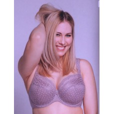 Ulla Dessous Josy padded bra in color taupe, sizes C-L, 30-48