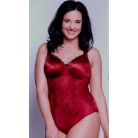 Ulla Viola body in warm red,, sizes B-G, 34-48