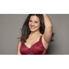 Ulla Dessous Viola bra in warm red  sizes B-G, 32-48