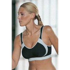 Anita sport bra wireless B-G 30-46 black/grey, white and skin